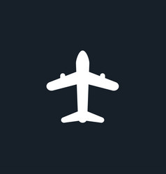 Airplane icon simple vector