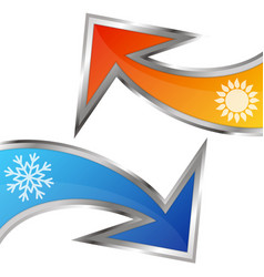 Arrows air conditioning symbol vector