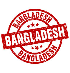 Bangladesh red round grunge stamp vector