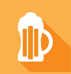 beer icon with a long shadow vector image