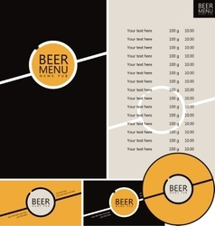 Beer pub menu vector
