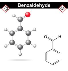 Benzaldehyde molecular structure vector image