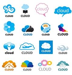 big set logos cloud vector image