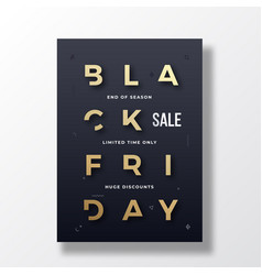 black friday minimalist typography banner poster vector image