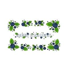 Blueberry line art vector image