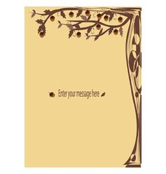 Brown Fantasy Cards tree vector