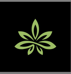 Cannabis and marijuana leaf creative concept logo vector