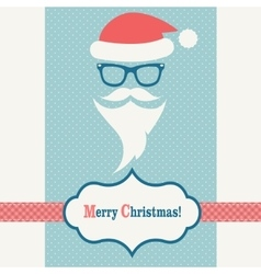Card with Santa Claus vector image