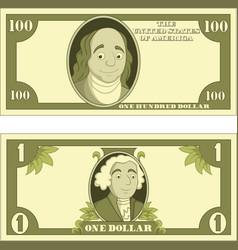 cartoon money isolated on white background vector image