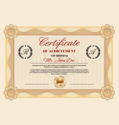 Certificate achievement or appreciation diploma vector