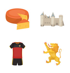 Cheese lion and other symbols of the country vector