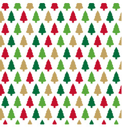christmas seamless pattern with colorful christmas vector image