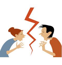 Conflict cartoon vector