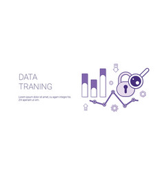 data traning web banner with copy space business vector image