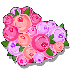 decor form heart decorated with fresh flower vector image