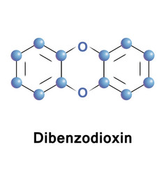 dibenzodioxin heterocyclic organic compound vector image