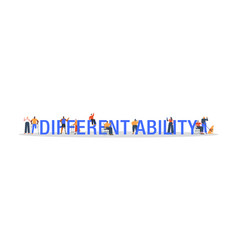 Different ability concept diverse people cartoon vector