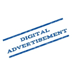 Digital Advertisement Watermark Stamp vector