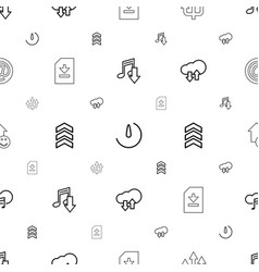 download icons pattern seamless white background vector image