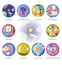 Education and science disciplines for school vector
