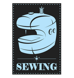 electric sewing and cutting machine vector image