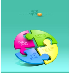 Element for design colored puzzles vector