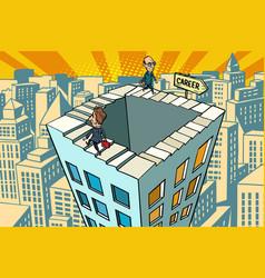 Endless city career ladder vector