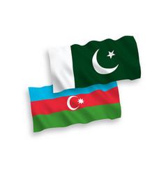 Flags azerbaijan and pakistan on a white vector
