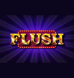 flush online poker casino vector image