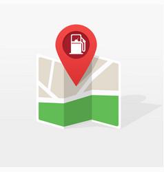 gasoline petroleum fuel station on city map vector image