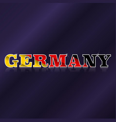 germany flag symbol vector image