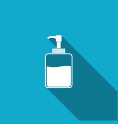 hand sanitizer bottle icon isolated with long vector image