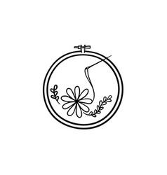 Handicraft hand drawn sketch icon vector