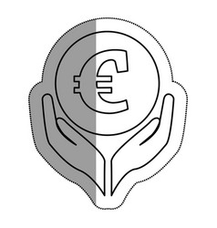 Hands human with euro vector