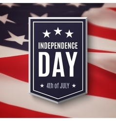 Happy Independence day 4th of July background vector image