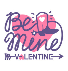 happy valentine day country farm with cowboy boot vector image