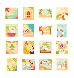 hello summer banner season vacations travel vector image