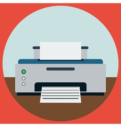 Home printer vector image