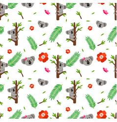 koala seamless pattern vector image