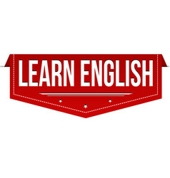 learn english banner design vector image