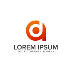 Letter d a logo design concept template vector