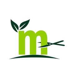 Letter m lawn vector