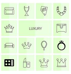 Luxury icons vector