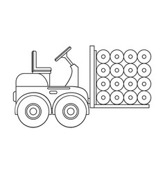 Machine single icon in outline stylemachine vector
