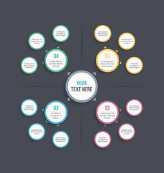 mind map template vector image