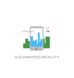 mobile application augmented reality visual vector image