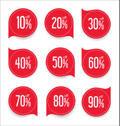 modern offer sale red tag isolated vector image