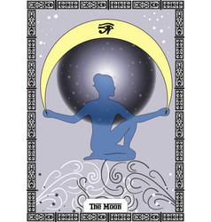 moon card vector image