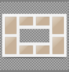 Multi frame set with empty space photo frame vector