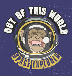 Out this world slogan for t-shirt design vector